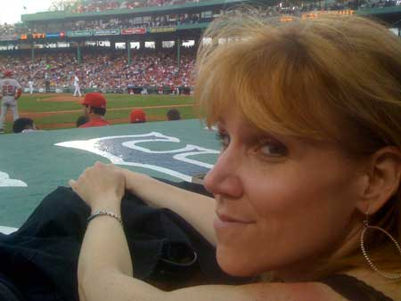 Sarah at Fenway